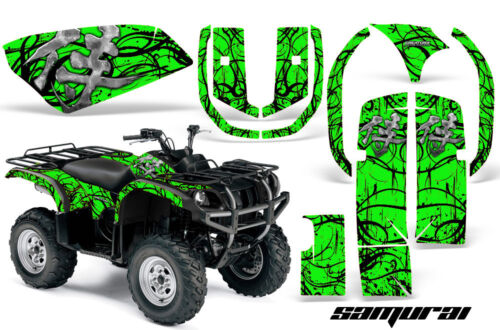 YAMAHA GRIZZLY 660 CREATORX GRAPHICS KIT DECALS STICKERS SAMURAI BG