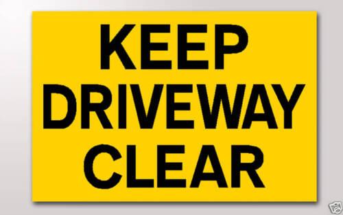 Gardez driveway clair 3mm rigide signe 300mm x 200mm YL BK