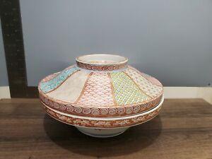 Antique-or-Vintage-Japanese-Chinese-Porcelain-Lidded-Serving-Bowl-5-75-039-039-T