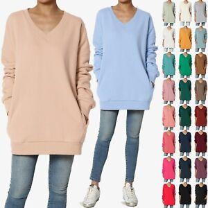 TheMogan-S-3X-Casual-Cozy-Oversized-V-Neck-Fleece-Pullover-Sweatshirts