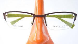 Fassung Rahmenlos Brille Schmal Titan Gestell Braun Nickelfrei Unisex Size M BüGeln Nicht Antiquitäten & Kunst