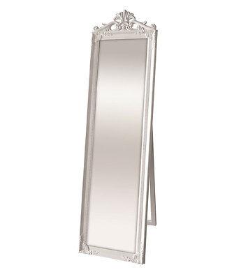Kensington Stand Spiegel 45,5x170 cm Weiß Wandspiegel Flurspiegel Badspiegel