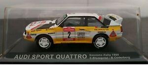 1-43-AUDI-SPORT-QUATTRO-SANREMO-RALLY-1984-S-BLOMQVIST-COCHE-A-ESCALA-DIECAST