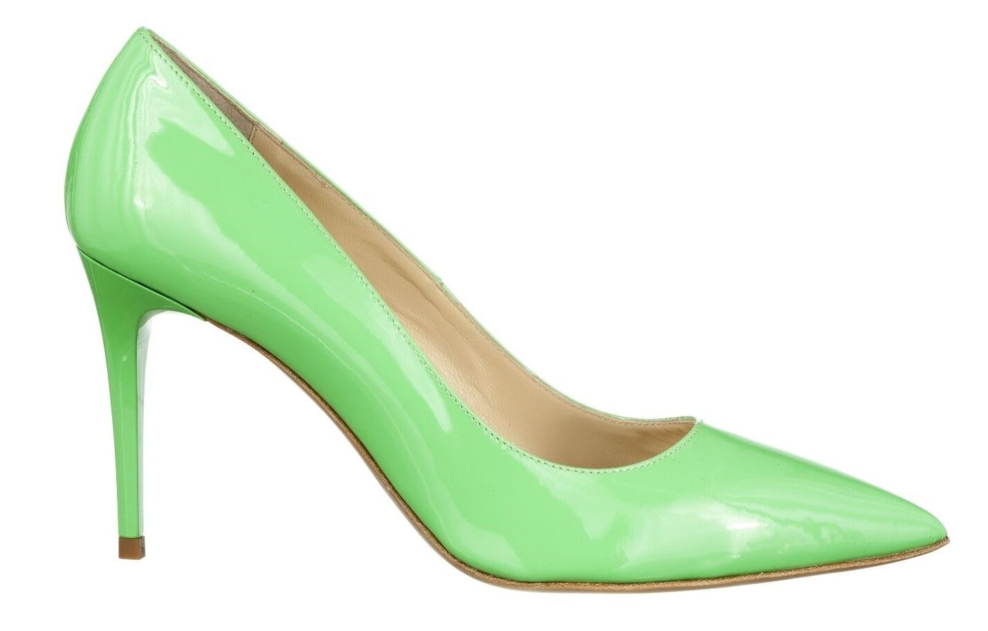 MORI MADE IN IN IN ITALY POINTY HIGH HEELS PUMPS DECOLTE zapatos LEATHER verde verde 38  Las ventas en línea ahorran un 70%.