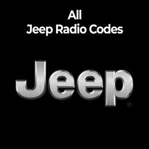 Jeep Radio Code Stereo PIN Unlock Codes Fast Unlock Renegade/Cherokee/Patriot