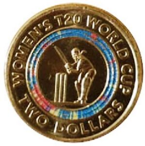 ICC-Women-039-s-T20-World-Cup-2020-Two-Dollar-Coloured-Coin-FREE-Shipping
