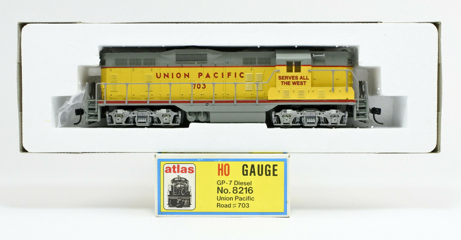 ATLAS HO SCALE 8216 UNION PACIFIC GP7 DIESEL ENGINE  703