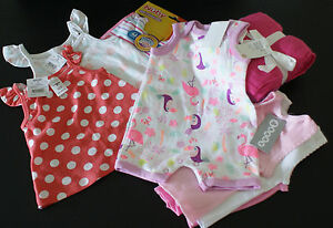 BABY-GIRL-039-S-ALL-B-N-W-T-Muslin-Wraps-Tops-Vests-Bibs-Romper-SZ-000