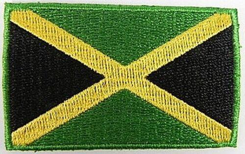 Jamaika Aufnäher gestickt,Flagge Fahne,Patch,Aufbügler,6,5cm,neu