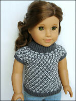 Knitting Pattern - Gwen Slip Stitch Sweater For American Girl Gotz 18 Inch Dolls