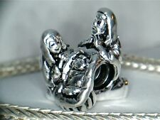 SILVER PLATED  NATIVITY SCENE  MARY, JOSEPH, JESUS CHARM ** * SEE MY STORE