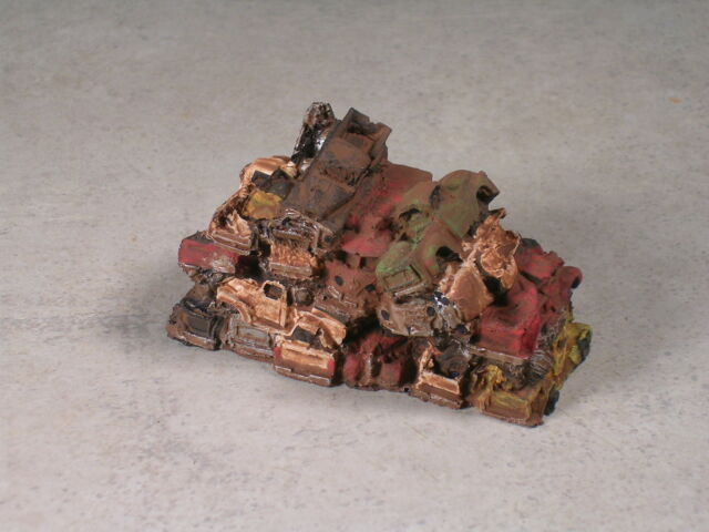 N Scale Rusted Out Pickup Trucks Piled Up