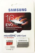 SAMSUNG EVO Plus 16GB MicroSD Micro SDHC C10 Flash Memory Card w/ SD Adapter