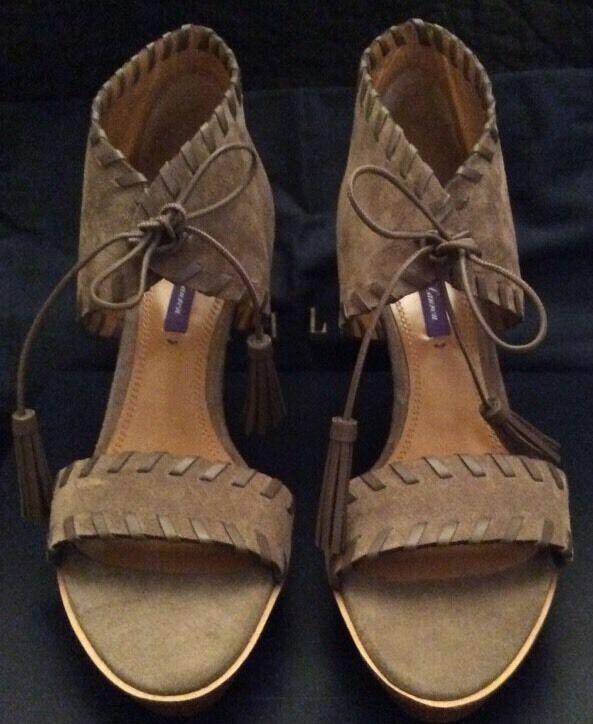 Los últimos zapatos de descuento para hombres y mujeres Ralph Lauren Purple Label Collection Mujer Zapatos. piedra. PVP: 545 EUR.