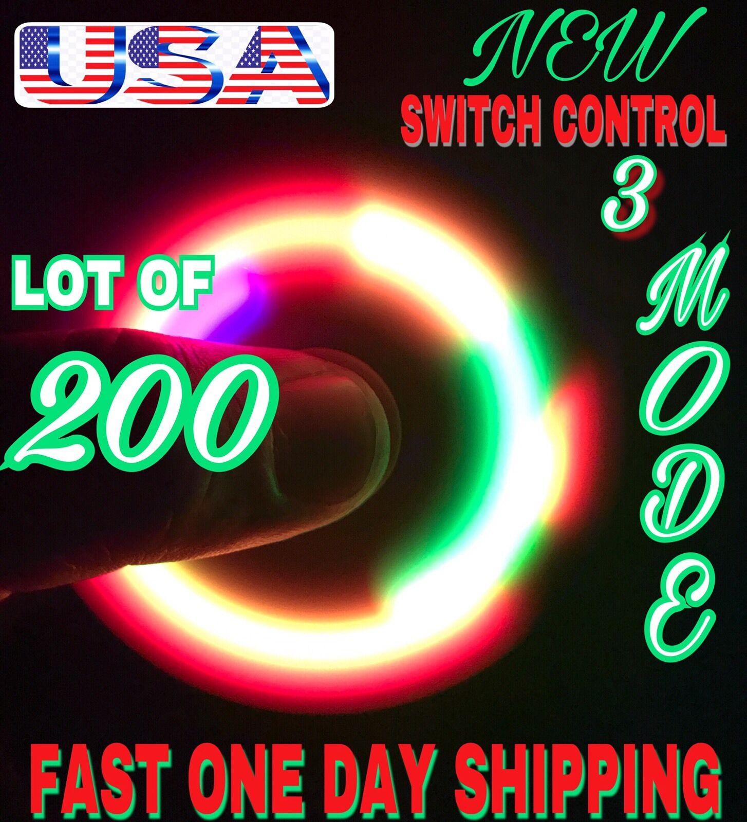 Lote de 200 x LED CONTROL de conmutador Fidgets Spinner 3 modos, 4TH de julio