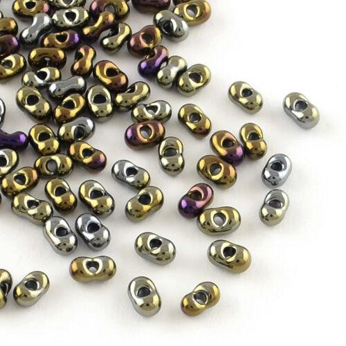 20 g Peanut Janpan FARFALLE BUTTERFLY Plaqué Verre Seed Perles 4x2x2mm TROU 0.5 mm