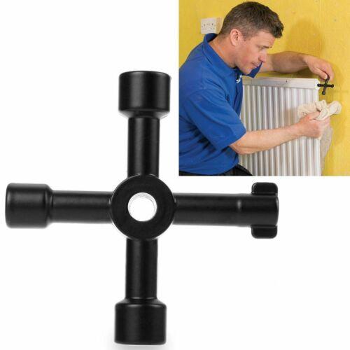 4 Way Utility Key Plumbing Radiator Bleed Gas Electric Meter Stop Cock Tap Metal