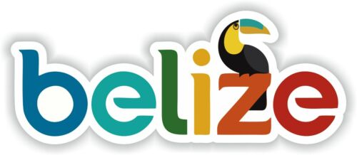 Sticker of Belize Decal for Bumper Travel Car Laptop Tablet Suitcase Hollidays