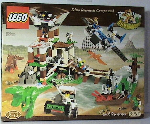 NEW Lego Adventurers Dino Island 5987 Dino Research Compound  Nuovo SEALED