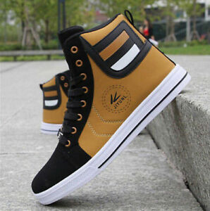 88264c2eed93 2018 Stylish New Men s Casual High Top Sport Shoes Running Athletic ...