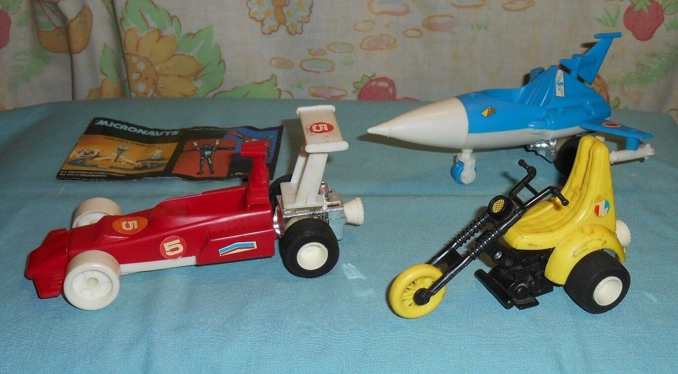 Vintage Mego Micronauts Warp  Racer, ultronic scooter, Photon SLED & Brochure Lot  le magasin