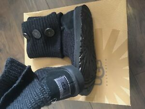 Size Uk Women's Boots 5 3 Cardy Ugg Knitted Black wzwxHCAvq