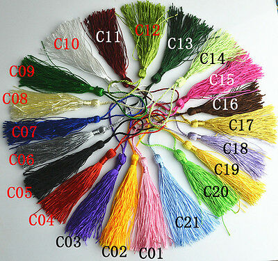 10 pcs Fiber tassel trim fringe tassel, decor drapery sewing notions 21 colors