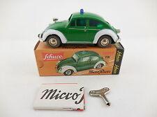 Schuco Micro Racer 1039P VW Volkswagen Bug Police Polizei Wind Up Car New in Box