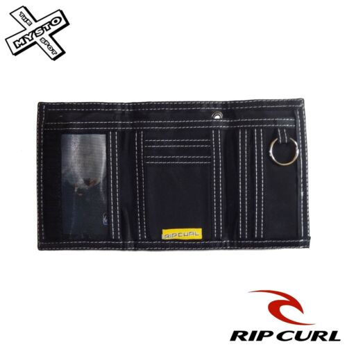 RIP CURL /'INVERT/' WALLET TRI FOLD BLACK BLUE BROWN CANVAS SUEDE SURF BNWT