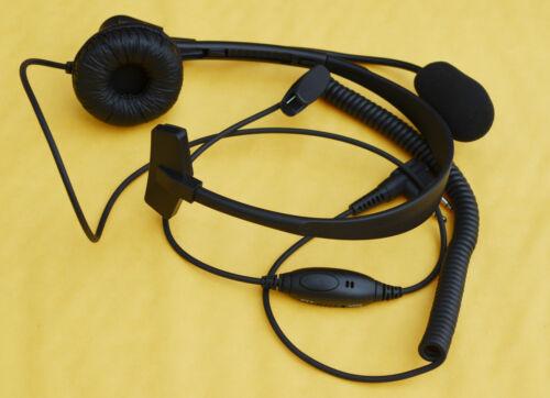 Over Head Headset//Earpiece Boom Mic For Motorola Radio CP200 CP250 CP300 GP2000