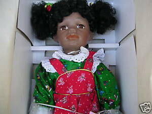 William-Tung-Porcelain-Doll-034-Jeanette-034-Bear-Limited-Ed-20-034-African-American