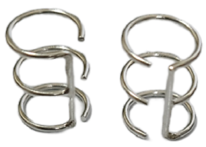 Ear Cuffs Wire Design 925 Sterling Silver You get 2 Pieces 1 Pair # 37