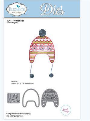 Elizabeth Crafts Designs Cutting Die Set ~ WINTER HAT Cold Playtime ~1241 Snow