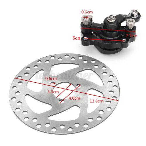 Electric Rear Disc Brake Caliper 140mm Rotor Kit For Mini Dirt Bike Go Kart ATV