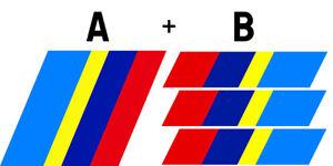 STICKER-SET-DE-BANDES-CALANDRE-COFFRE-PEUGEOT-205-SPORT-GTI-AUTO-BA223-224