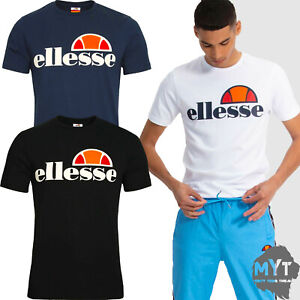 Ellesse-Mens-T-Shirt-Short-Sleeve-Crew-Neck-Casual-Tee-All-Size-Black-White-Blue