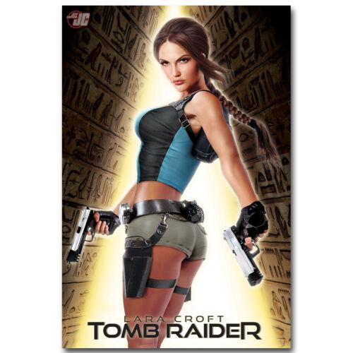 Art Design Girl Lara Croft Tomb Raider Silk Poster 12x18 24x36 inch