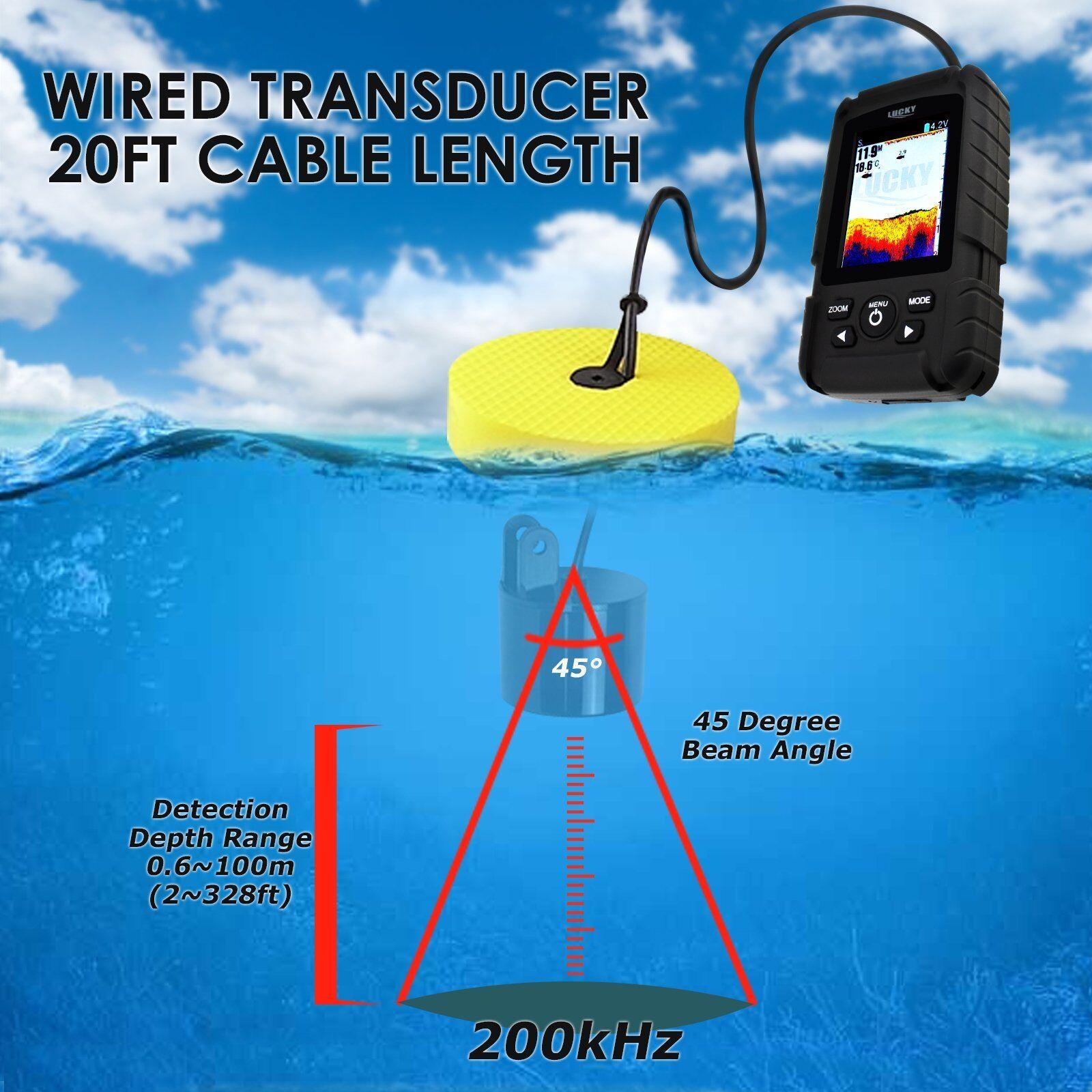 2-in-1 Cablata Pesce Mirino Menu Inglese/Russo Senza Fili/6M Cablata 2-in-1 Sensore 328ft(100m) 049a9c