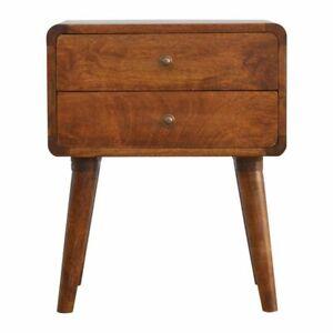 Dark Wood Bedside Cabinet Table