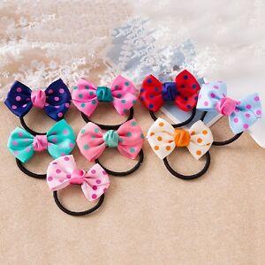 5-Children-Kids-Printing-Sweet-Dot-Ponytail-Holder-Headband-Tie-Rope-Bowknot
