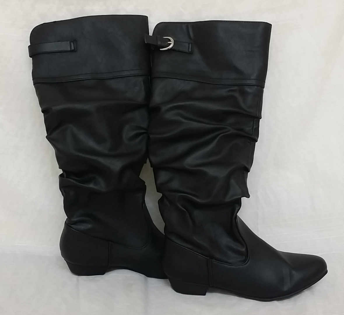 New! Women's CAWINNI Tall Dress Boots with Buckle in Black 67264 E25