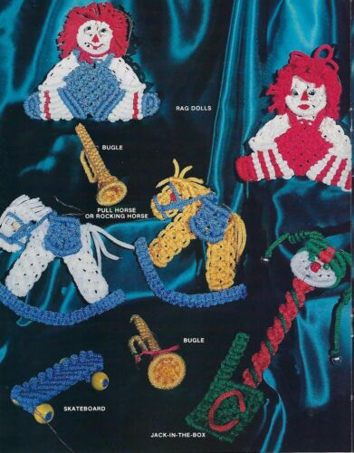 Macrame Toy Christmas Ornament Patterns Macrame Holiday V Craft Book MM661