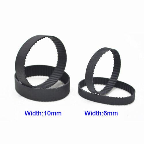 B114//B115//B116MXL Black Rubber Close Loop Timing Synchronous Belt 6//10mm Width