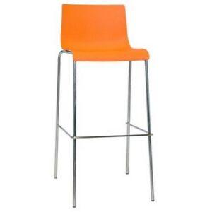 Taburete-para-interior-de-acero-inoxidable-y-polipropileno-naranja-RS8755