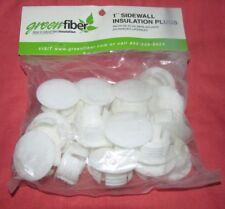 "Green Fiber 1/"" Sidewall Insulation Plugs 25 ct x 4 bags = 100 ct FREE SHIPPING"