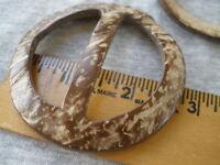 9pc Coconut Belt Buckles Scarf Slide 45mm 1.75 Bar 2.75 70mm Round Sarong Tie