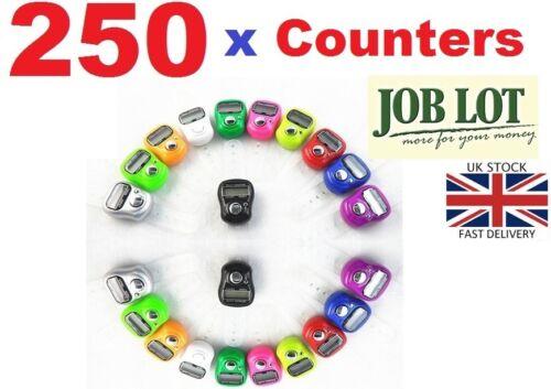 250 x Digital FINGER RING TALLY Counter Row Counter tasbeeh JOB LOT INGROSSO