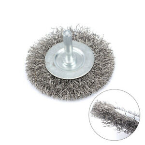 10Pcs Lengthen Stainless Steel Wire Buffing Brushes 3mm Shank For Rotary Tool