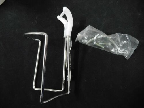 Vintage Double Handlebar Mount WATER BOTTLE CAGE one single cage steel NOS