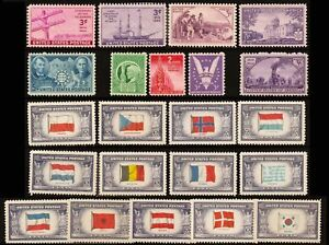 1941-44-Year-Set-of-22-Commemorative-Stamps-Mint-NH-Stuart-Katz